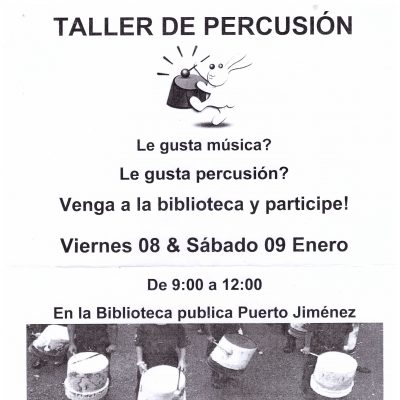 Trommelworkshop in Puerto Jimenez (CR)