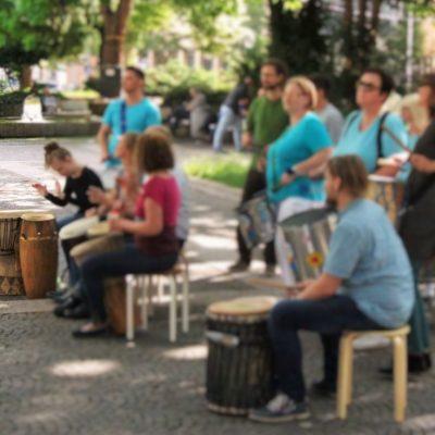 Trommelschule ILU bei der Féte de la Musique